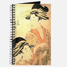 Two Women Utamaro Woodcut Journal