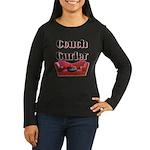 Couch Curler Women's Long Sleeve Dark T-Shirt