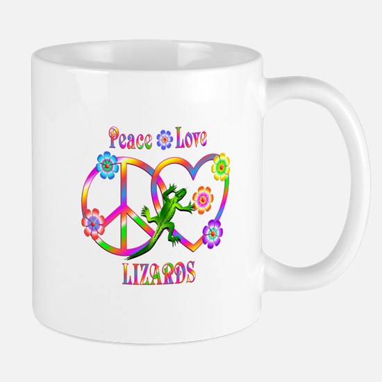 Peace Love Lizards Mug