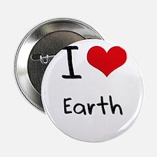 """I love Earth 2.25"""" Button"""
