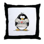 Sudoku Penguin Throw Pillow