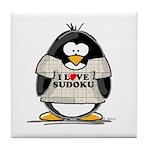 Sudoku Penguin Tile Coaster
