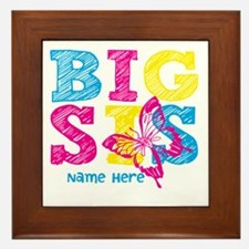Butterfly Big Sis Framed Tile