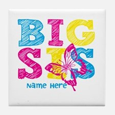 Butterfly Big Sis Tile Coaster
