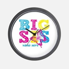 Butterfly Big Sis Wall Clock