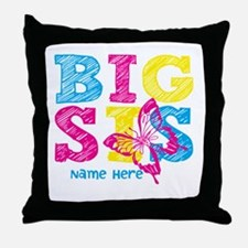 Butterfly Big Sis Throw Pillow