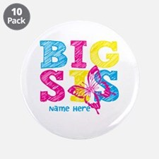 "Butterfly Big Sis 3.5"" Button (10 pack)"