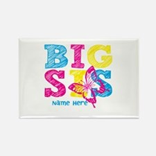 Butterfly Big Sis Rectangle Magnet