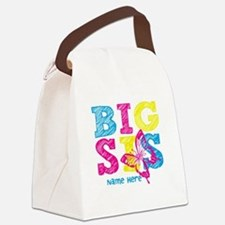 Butterfly Big Sis Canvas Lunch Bag