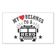 My Heart Belongs to a Hero Decal