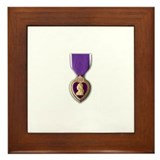 Purple heart military Framed Tiles