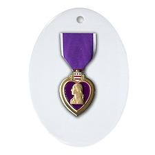 Purple Heart Oval Ornament