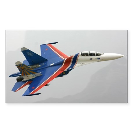 Su-27 Rectangle Sticker