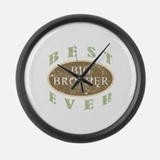 Best Big Brother Ever (Vintage) Large Wall Clock