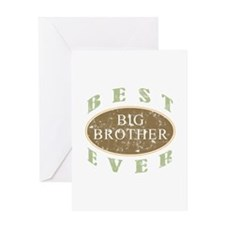Best Big Brother Ever (Vintage) Greeting Card
