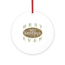 Best Big Brother Ever (Vintage) Ornament (Round)