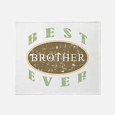 Best Brother Ever (Vintage) Throw Blanket