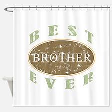 Best Brother Ever (Vintage) Shower Curtain