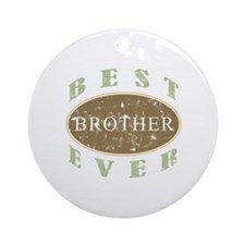 Best Brother Ever (Vintage) Ornament (Round)
