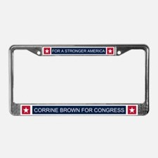 Elect Corrine Brown License Plate Frame