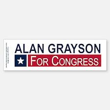 Elect Alan Grayson Bumper Bumper Sticker