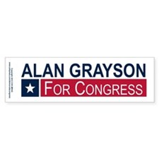Elect Alan Grayson Car Sticker