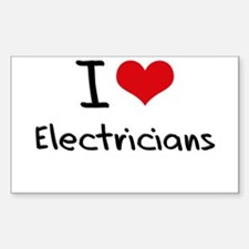 I love Electricians Decal