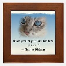 Dickens Cat Framed Tile
