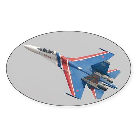 Su-27 Oval Sticker