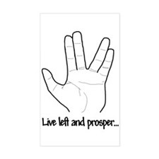"""Live left and prosper..."" Decal"