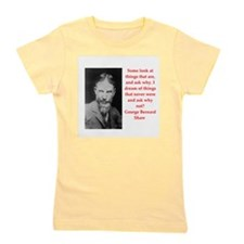 george bernard shaw quote Girl's Tee