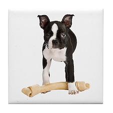 Boston Terrier Standing Guard Tile Coaster