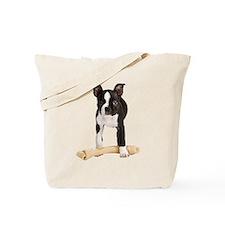 Boston Terrier Standing Guard Tote Bag