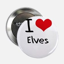 "I love Elves 2.25"" Button"