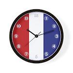 Patriotic Stripes Wall Clock
