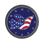 Patriotic Dove Wall Clock