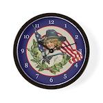 Patriotic Girl Clock