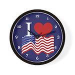 I LOVE USA Clock