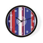 Patriotic Stripes Clock