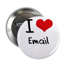 """I love Email 2.25"""" Button"""