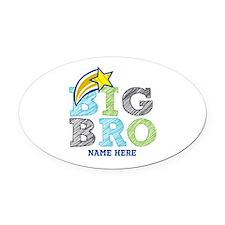 Star Big Bro Oval Car Magnet