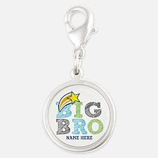 Star Big Bro Silver Round Charm
