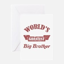 World's Greatest Big Brother Greeting Card