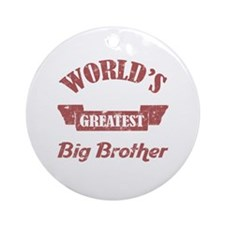 World's Greatest Big Brother Ornament (Round)