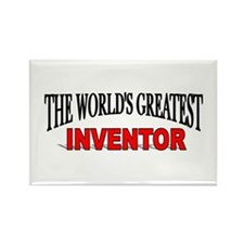 """""""The World's Greatest Inventor"""" Rectangle Magnet"""