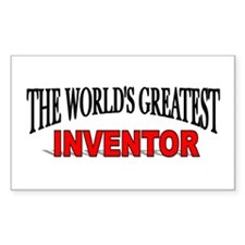 """The World's Greatest Inventor"" Sticker (Rectangul"