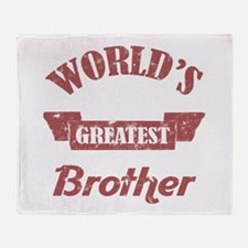 World's Greatest Brother Throw Blanket