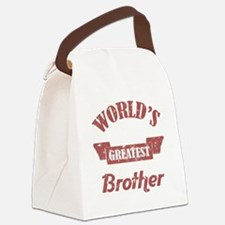 World's Greatest Brother Canvas Lunch Bag