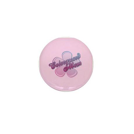 Colorguard Mom Flower Mini Button