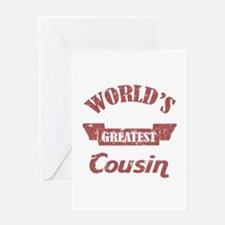 World's Greatest Cousin Greeting Card